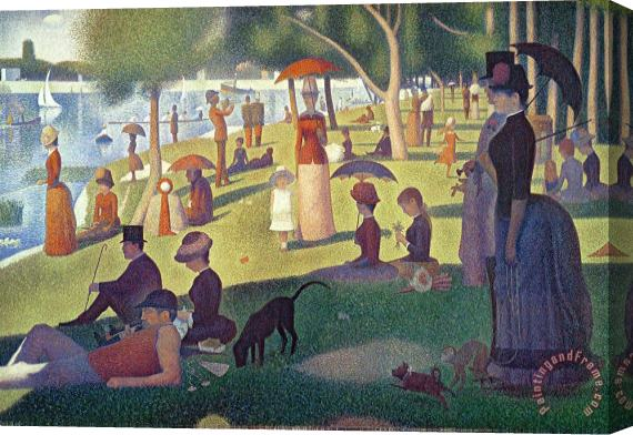 Georges Pierre Seurat Sunday Afternoon on the Island of La Grande Jatte Stretched Canvas Print / Canvas Art
