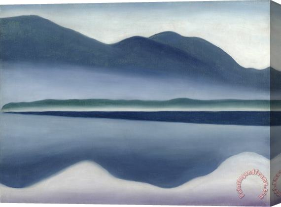 Georgia O'keeffe Lake George Formerly Reflection Seascape Stretched Canvas Print / Canvas Art