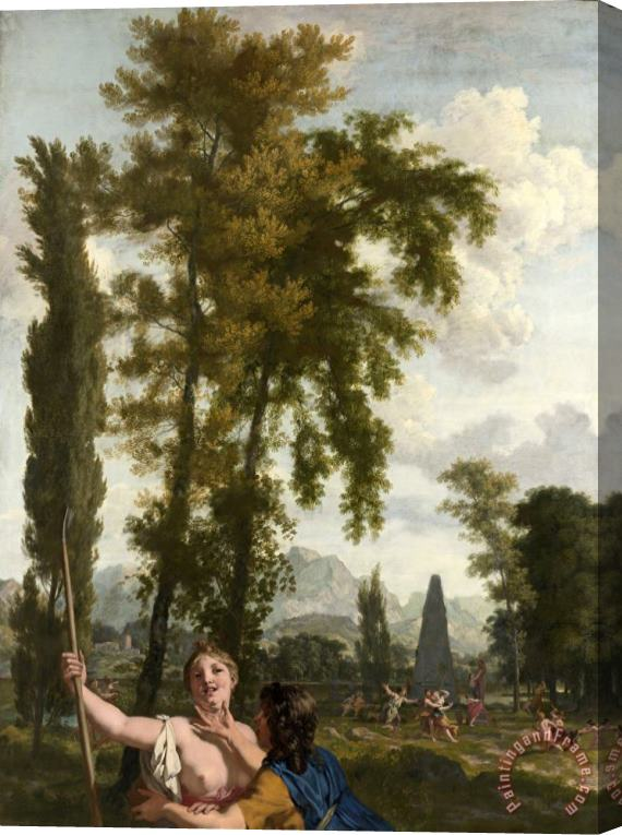 Gerard de Lairesse Italian Landscape with Shepherd And Shepherdess Stretched Canvas Print / Canvas Art