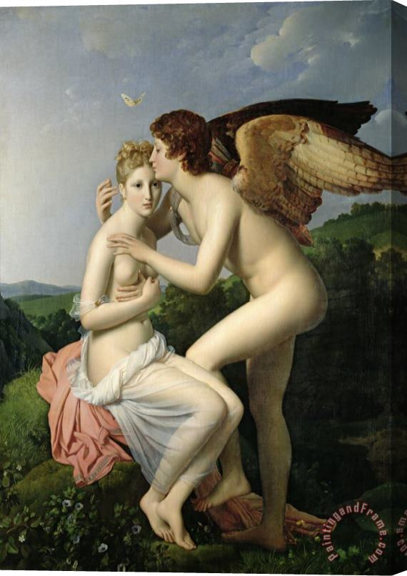 Gerard Psyche Receiving the First Kiss of Cupid Stretched Canvas Print / Canvas Art