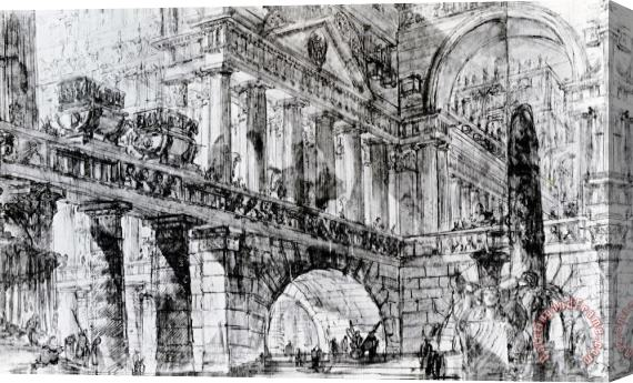 Giovanni Battista Piranesi Temple Courtyard Stretched Canvas Print / Canvas Art