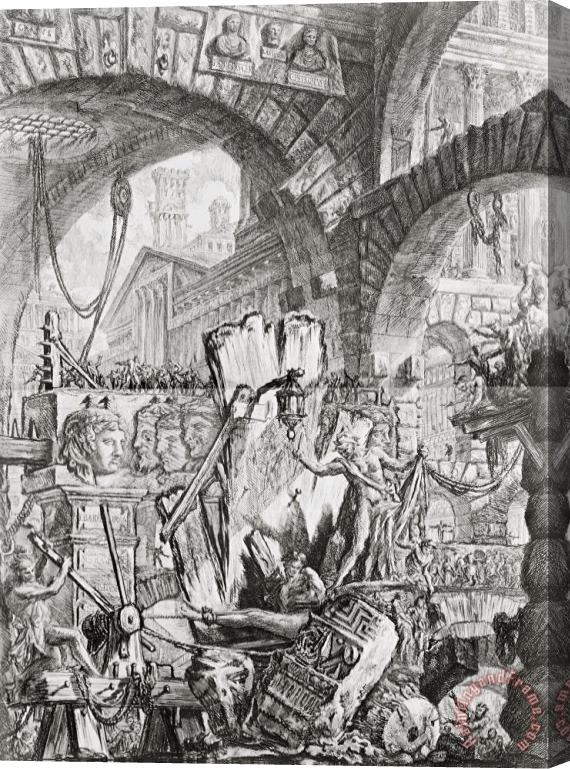 Giovanni Battista Piranesi The Man On The Rack Plate II From Carceri D'invenzione Stretched Canvas Print / Canvas Art