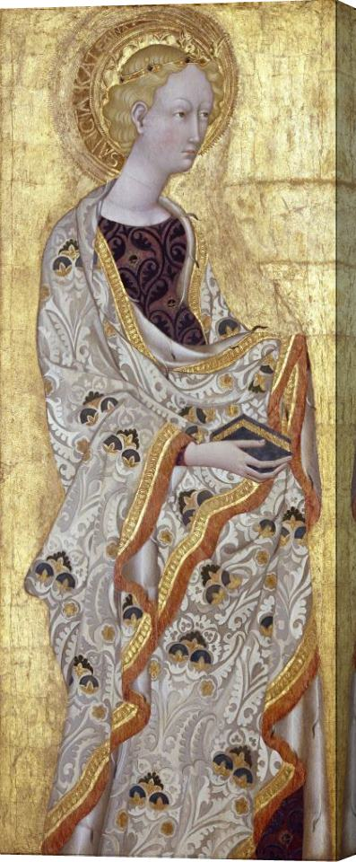 Giovanni di Paolo Saint Catherine Stretched Canvas Print / Canvas Art