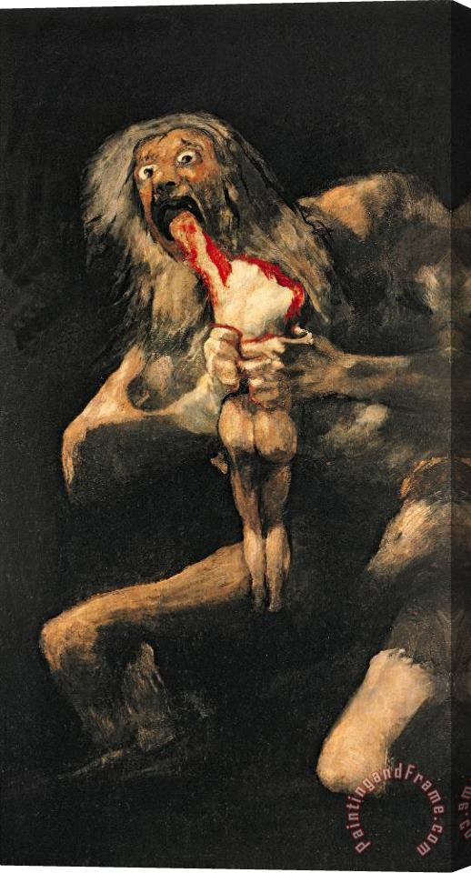Goya Saturn Devouring one of his Children Stretched Canvas Print / Canvas Art