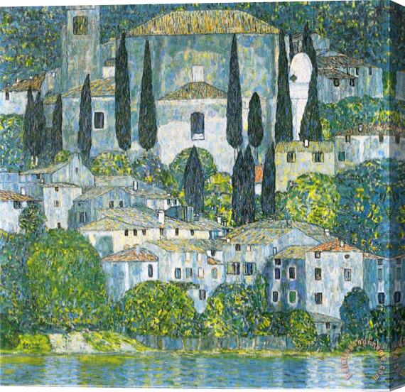 Gustav Klimt Kirche in Cassone Stretched Canvas Print / Canvas Art