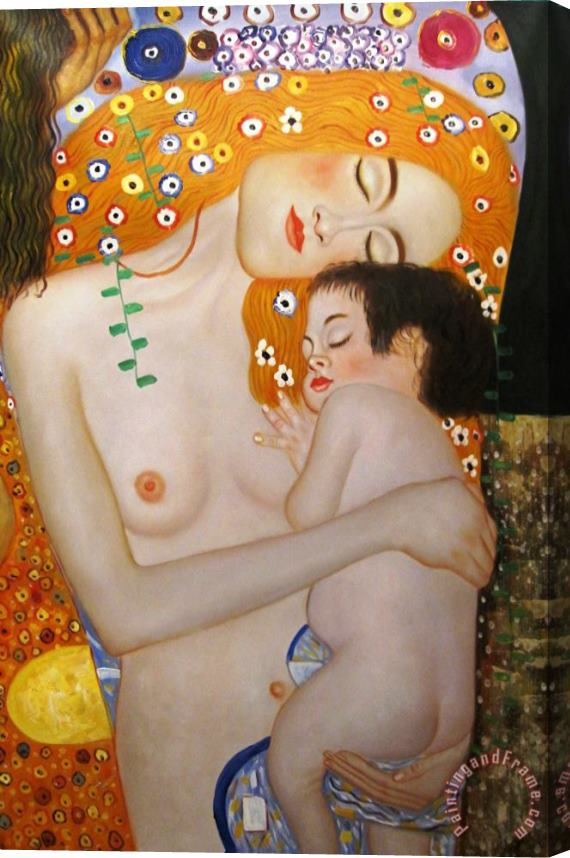 Gustav Klimt Mother And Child Stretched Canvas Print / Canvas Art