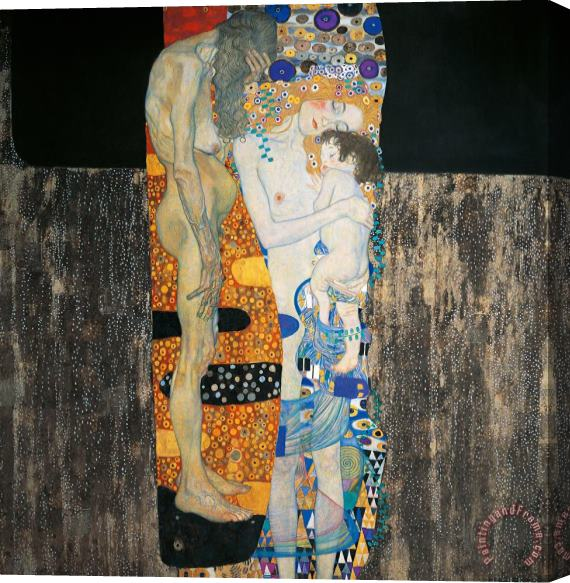 Gustav Klimt The Three Ages Of Woman Stretched Canvas Print / Canvas Art