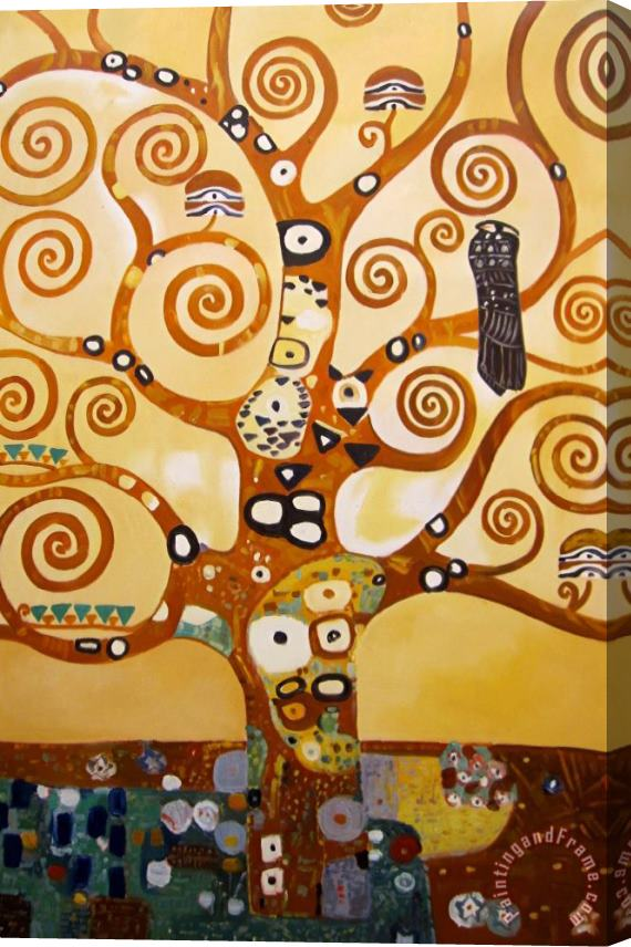 Gustav Klimt Tree of Life Stretched Canvas Painting / Canvas Art