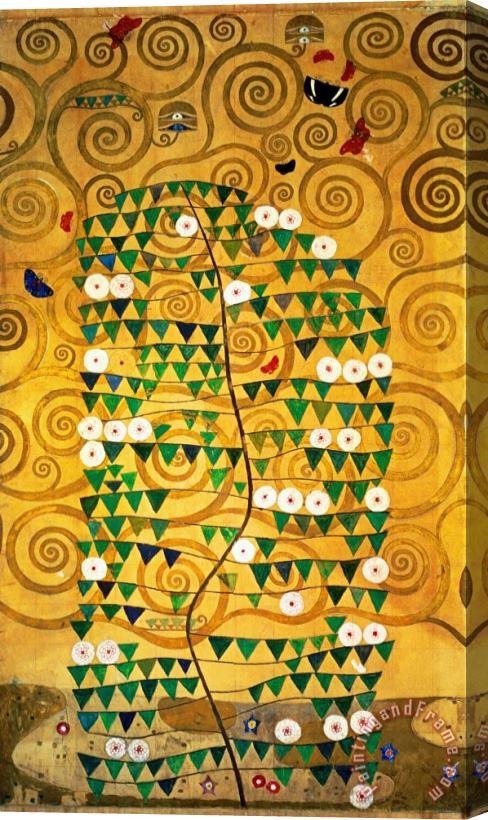 Gustav Klimt Tree of Life Stoclet Frieze Stretched Canvas Print ...