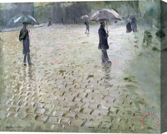 Gustave Caillebotte Study for a Paris Street Rainy Day Stretched Canvas Print / Canvas Art