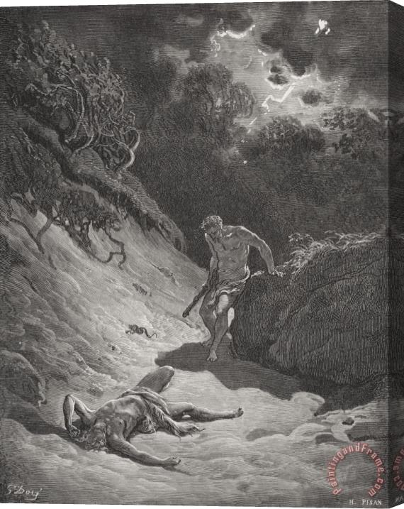 Gustave Dore The Death Of Abel Stretched Canvas Print / Canvas Art