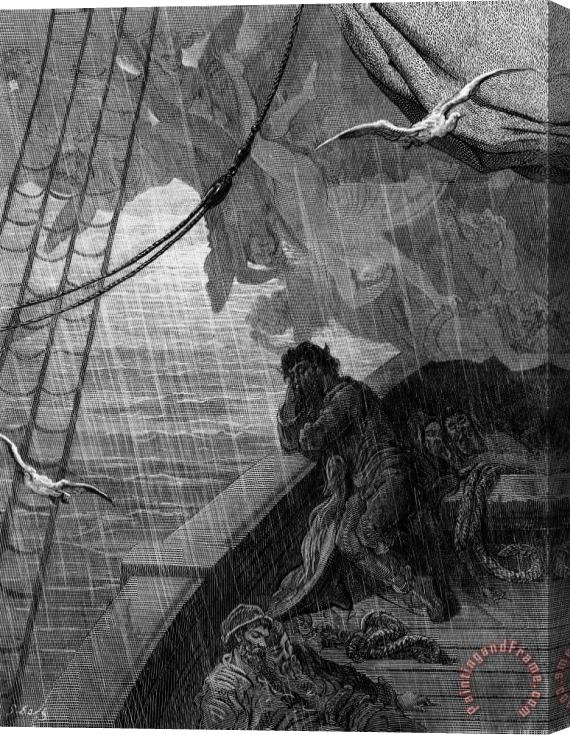 Gustave Dore The Rain Begins To Fall Stretched Canvas Print / Canvas Art
