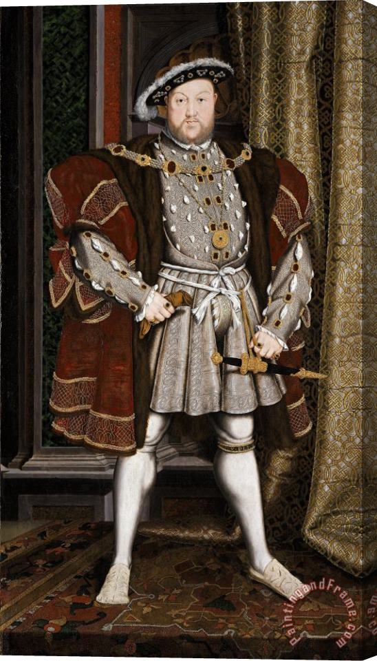 Hans Holbein the Younger Portrait Of Henry Viii Stretched Canvas Painting / Canvas Art