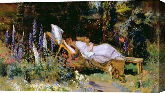 Harry Mitten Wilson An Afternoon Nap Stretched Canvas Print / Canvas Art