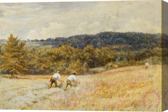 Helen Allingham The Reapers Stretched Canvas Print / Canvas Art