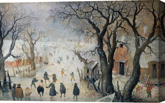 Hendrik Avercamp Winter Scene Stretched Canvas Print / Canvas Art