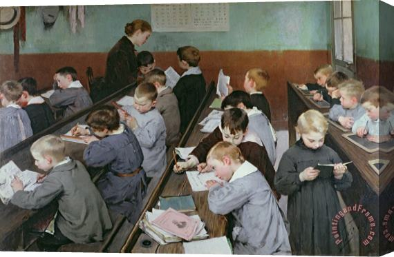 Henry Jules Jean Geoffroy Henri-jules-jean-geoffroy-the-children's-class-print-L-8130