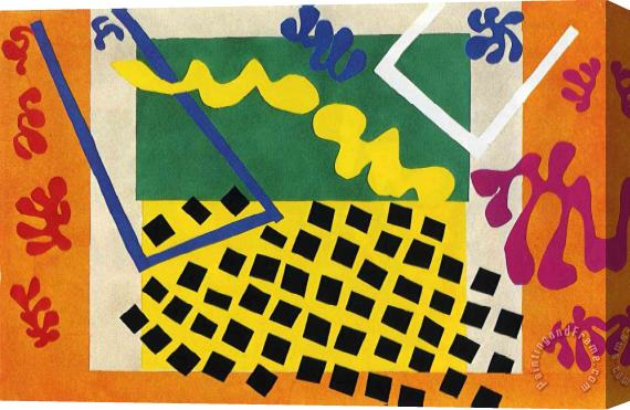Henri Matisse Cut Outs 3 Stretched Canvas Print / Canvas Art