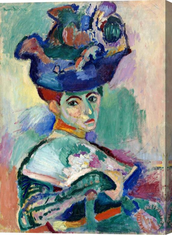 Henri Matisse Woman with Hat 1905 Stretched Canvas Print / Canvas Art