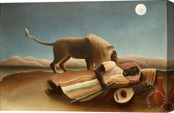 Henri Rousseau The Sleeping Gypsy II Stretched Canvas Print / Canvas Art