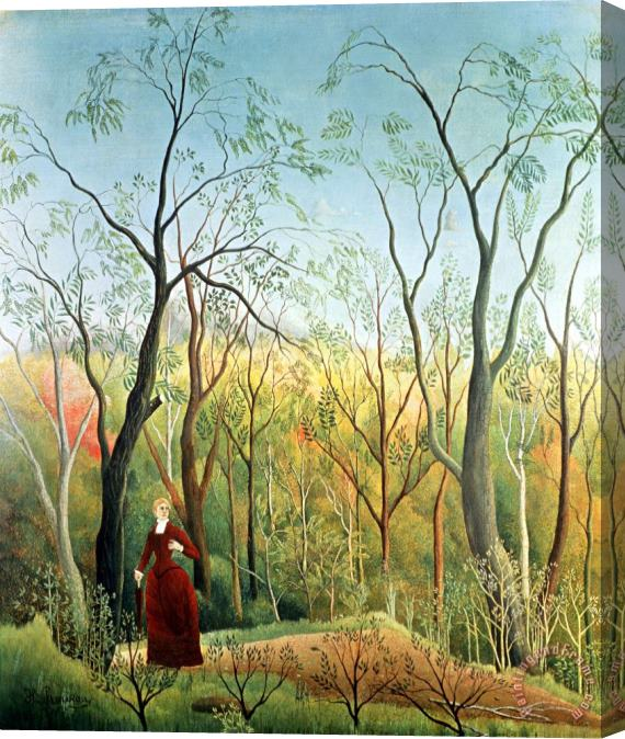 Henri Rousseau The Walk in the Forest Stretched Canvas Print / Canvas Art