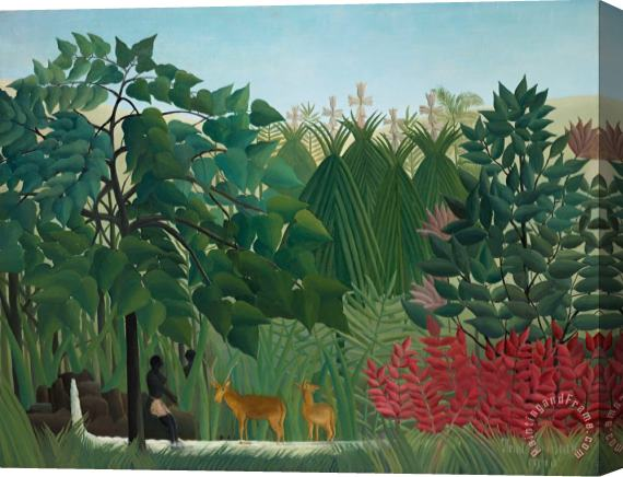 Henri Rousseau The Waterfall Stretched Canvas Print / Canvas Art