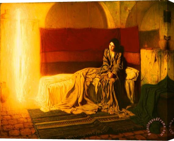 Henry Ossawa Tanner The Annunciation Stretched Canvas Print / Canvas Art