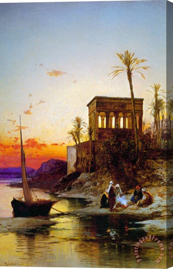 Hermann David Solomon Corrodi Kiosk of Trajan Philae on The Nile Stretched Canvas Print / Canvas Art