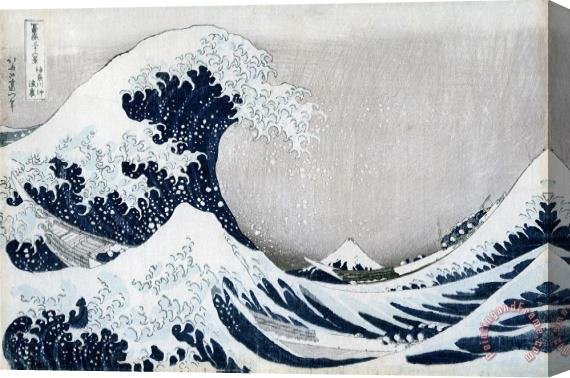 Hokusai The Great Wave of Kanagawa Stretched Canvas Painting / Canvas Art