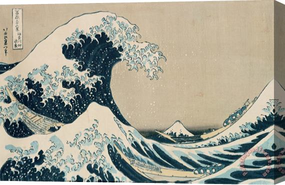 Hokusai The Great Wave of Kanagawa Stretched Canvas Print / Canvas Art