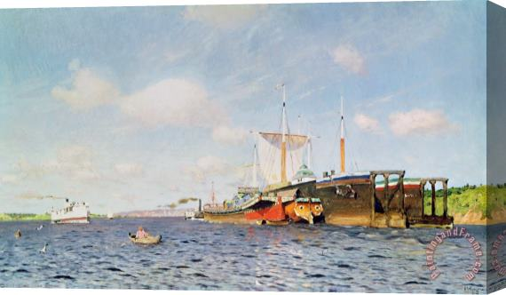 Isaak Ilyich Levitan Fresh Wind On The Volga Stretched Canvas Print / Canvas Art