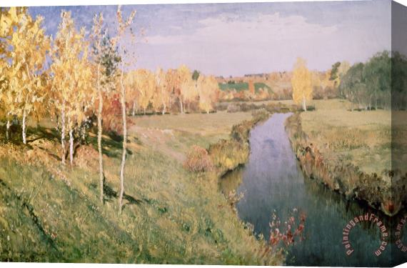 Isaak Ilyich Levitan Golden Autumn Stretched Canvas Print / Canvas Art