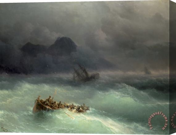 Ivan Konstantinovich Aivazovsky The Shipwreck Stretched Canvas Print / Canvas Art