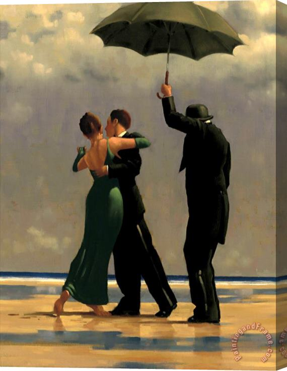 Jack Vettriano Dancer in Emerald Stretched Canvas Print / Canvas Art