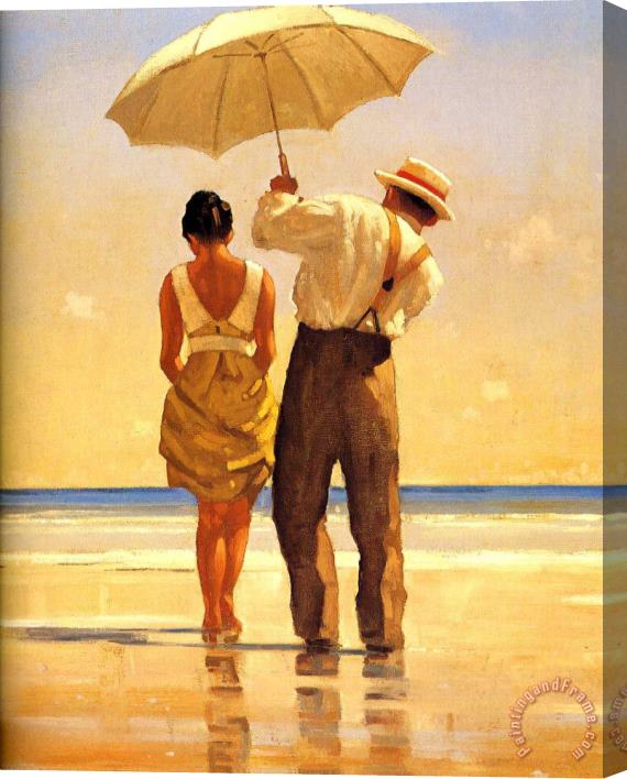 Jack Vettriano Mad Dogs Detail Stretched Canvas Print / Canvas Art