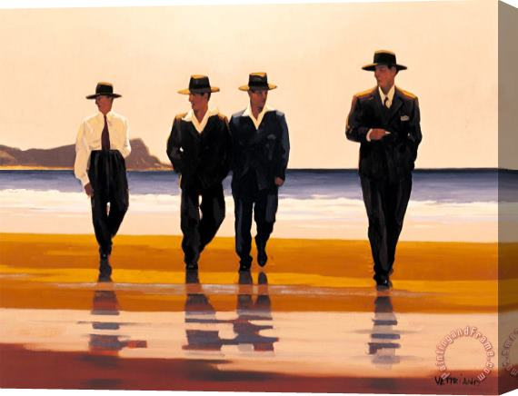 Jack Vettriano The Billy Boys Stretched Canvas Painting / Canvas Art