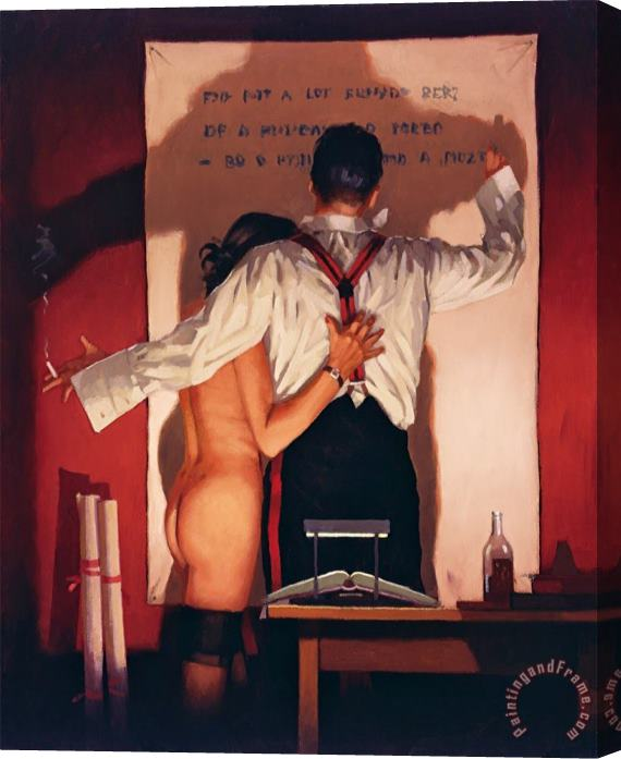 Jack Vettriano The Great Poet Stretched Canvas Print / Canvas Art