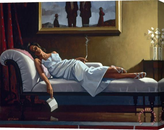 Jack Vettriano The Letter Stretched Canvas Print / Canvas Art