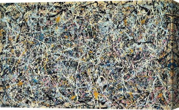 Jackson Pollock Number 1 Stretched Canvas Print / Canvas Art
