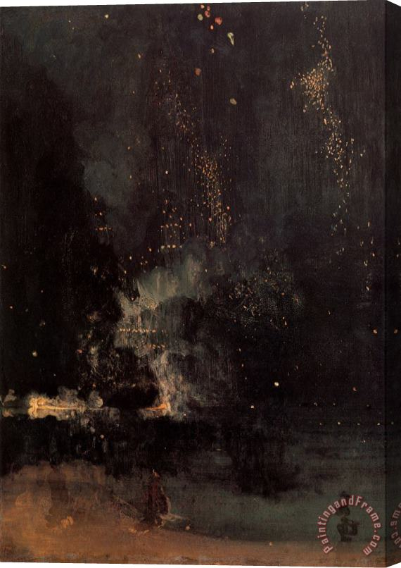 James Abbott McNeill Whistler Nocturne in Black And Gold The Falling Rocket Stretched Canvas Print / Canvas Art