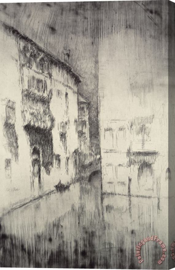 James Abbott McNeill Whistler Nocturne Palaces Stretched Canvas Print / Canvas Art