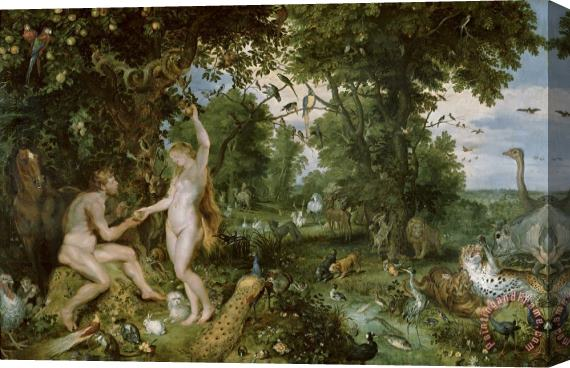 Jan Brueghel and Rubens The Garden of Eden with the Fall of Man Stretched Canvas Print / Canvas Art