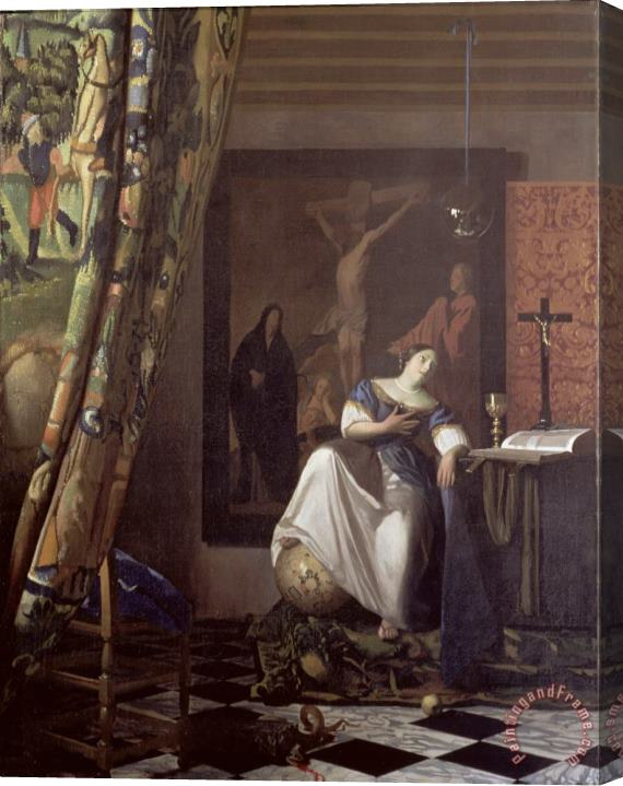 Jan Vermeer Allegory of the Faith Stretched Canvas Print / Canvas Art