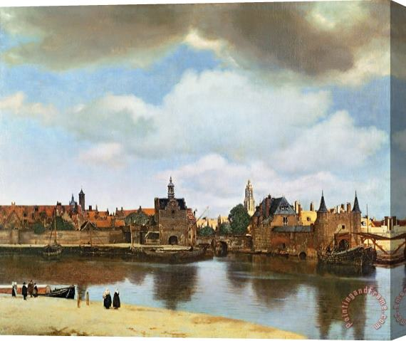 Jan Vermeer View of Delft Stretched Canvas Print / Canvas Art