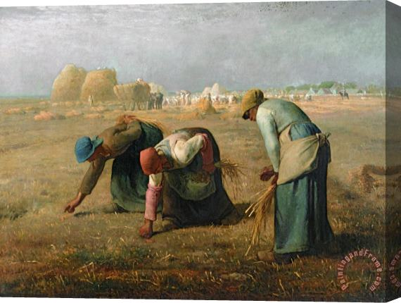 Jean-Francois Millet The Gleaners Stretched Canvas Print / Canvas Art