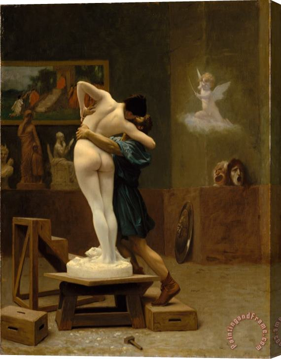 Jean Leon Gerome Pygmalion And Galatea Stretched Canvas Print / Canvas Art