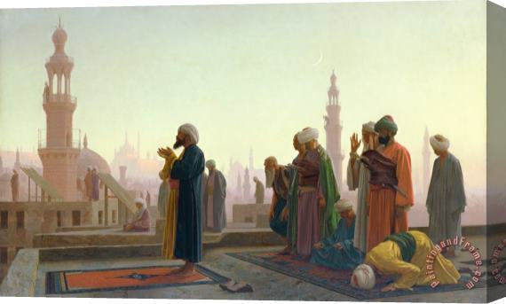 Jean Leon Gerome The Prayer Stretched Canvas Print / Canvas Art