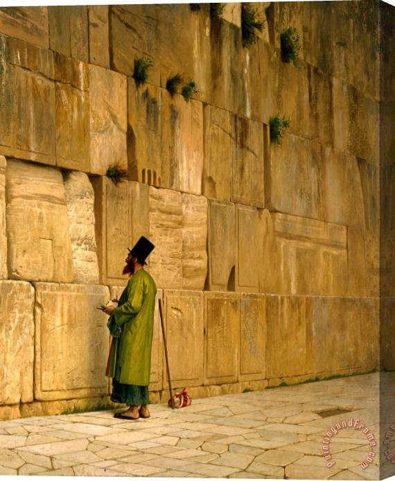 Jean Leon Gerome The Wailing Wall Stretched Canvas Print / Canvas Art