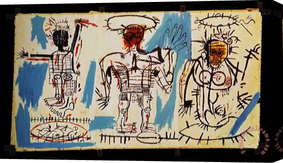 Jean-michel Basquiat Baby Boom Stretched Canvas Print / Canvas Art