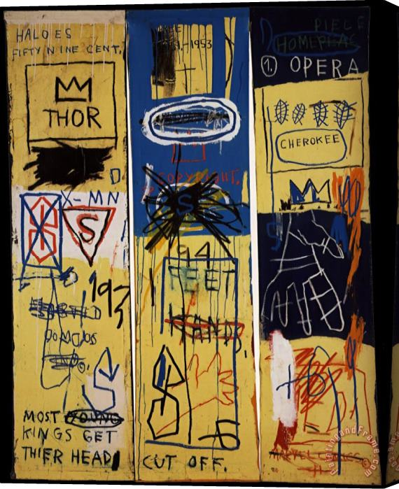 Jean-michel Basquiat Charles The First Stretched Canvas Print / Canvas Art
